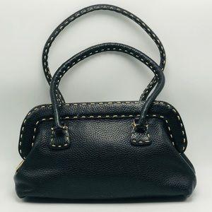 EUC Vintage Black Fendi Selleria Satchel